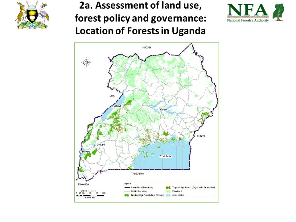 2a. Assessment of land use, forest policy and governance: Location of Forests in Uganda