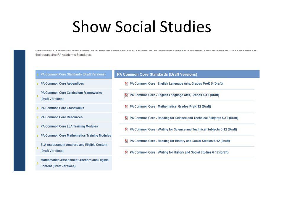 Show Social Studies