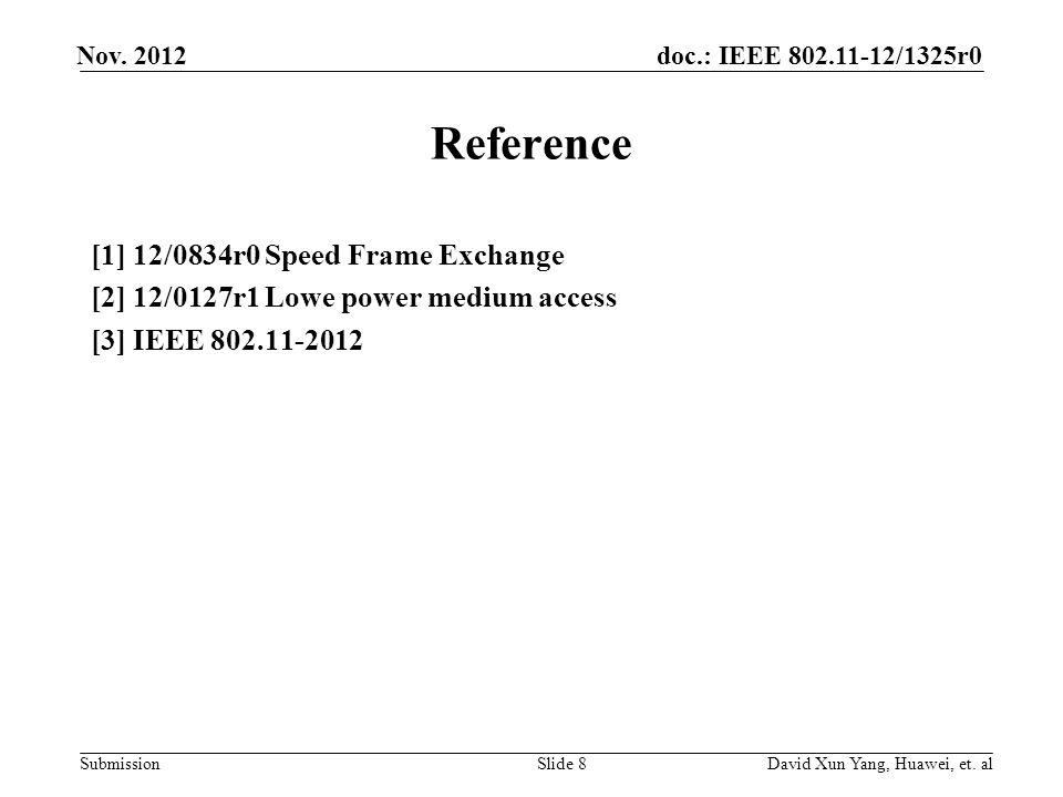 doc.: IEEE 802.11-12/1325r0 Submission Nov.