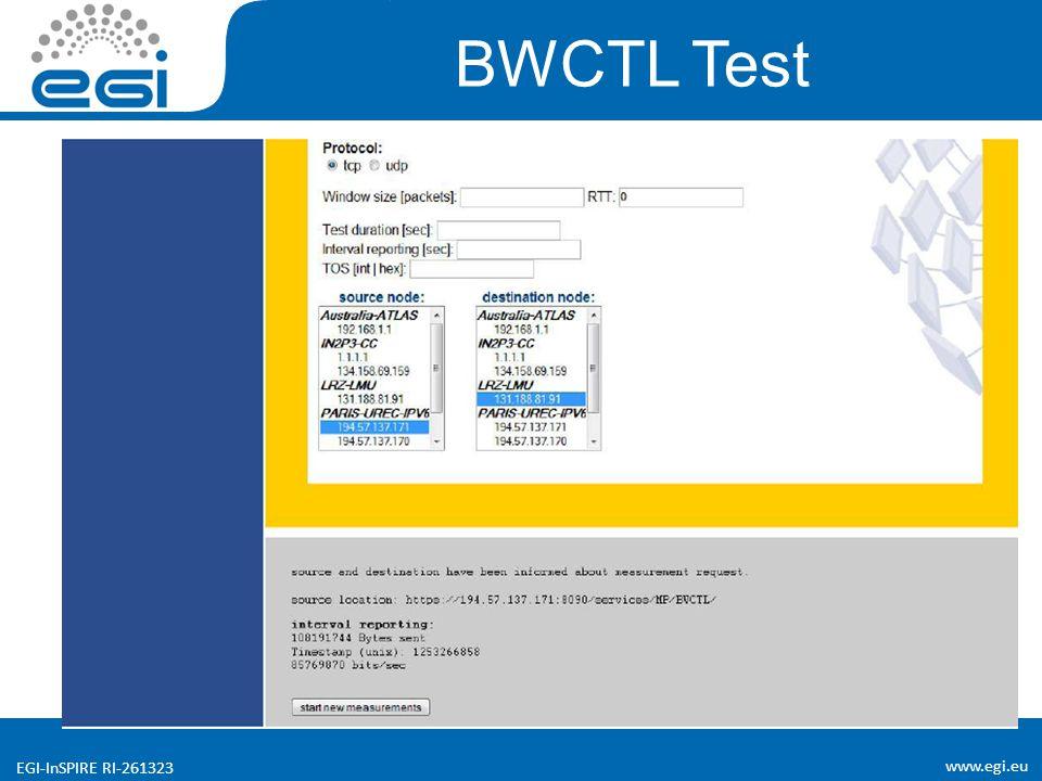 www.egi.eu EGI-InSPIRE RI-261323 BWCTL Test