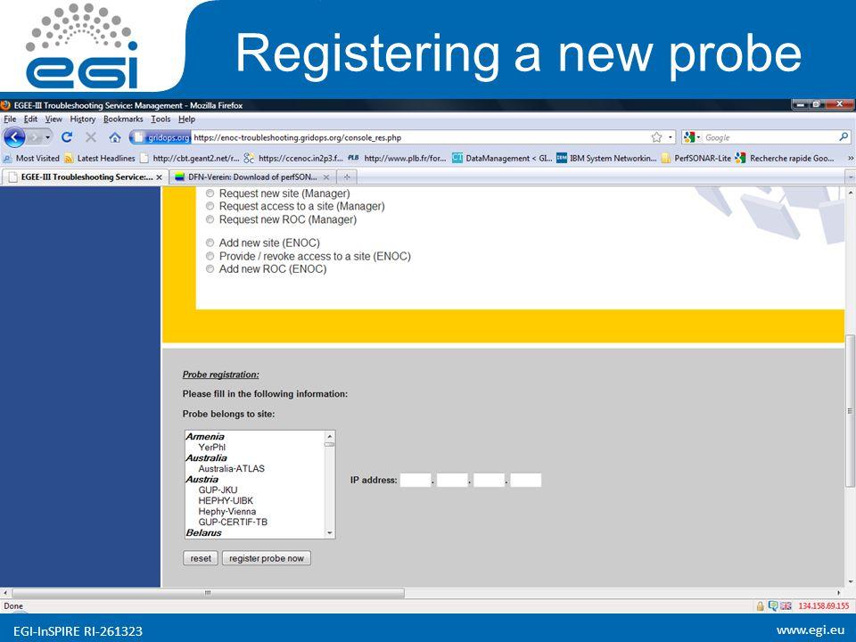 www.egi.eu EGI-InSPIRE RI-261323 Registering a new probe