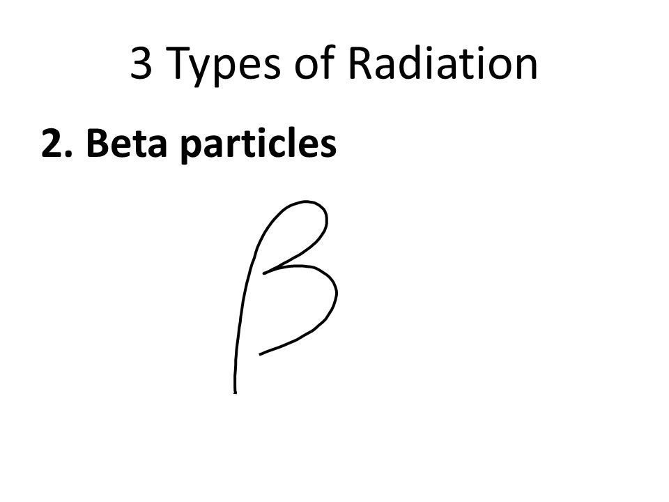 3 Types of Radiation 2. Beta particles