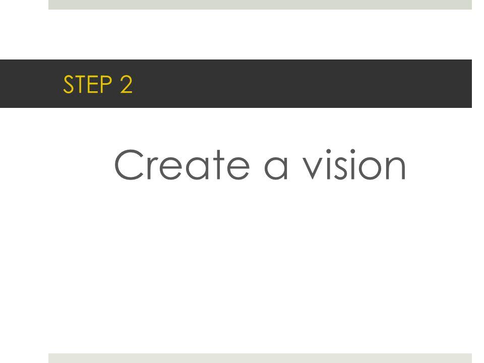 STEP 2 Create a vision