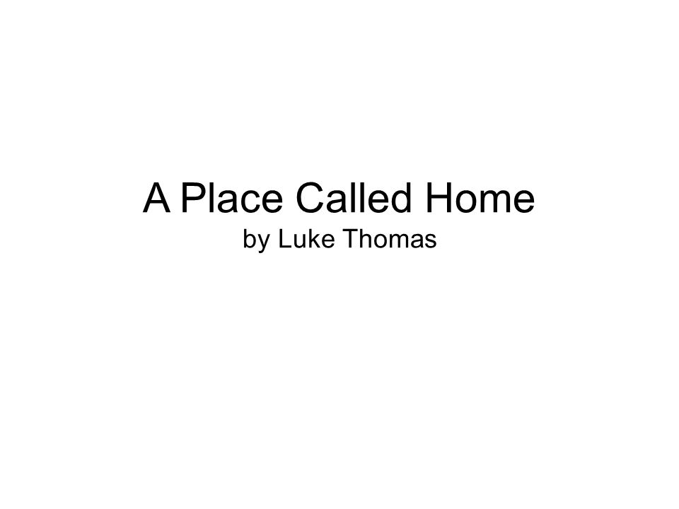 Author's Page Luke Thomas is a junior at the Lawrence County Career and Technical Center.