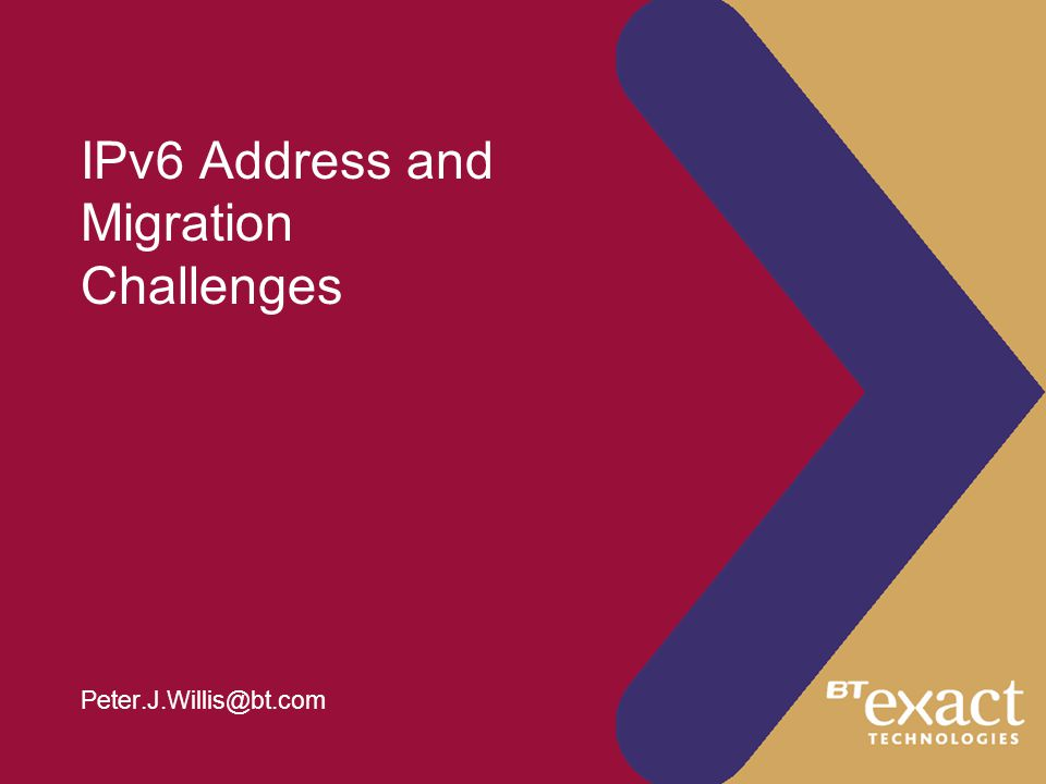 © British Telecommunications plc 20012 Contents - IPv6 Addresses  sTLAs are too small.