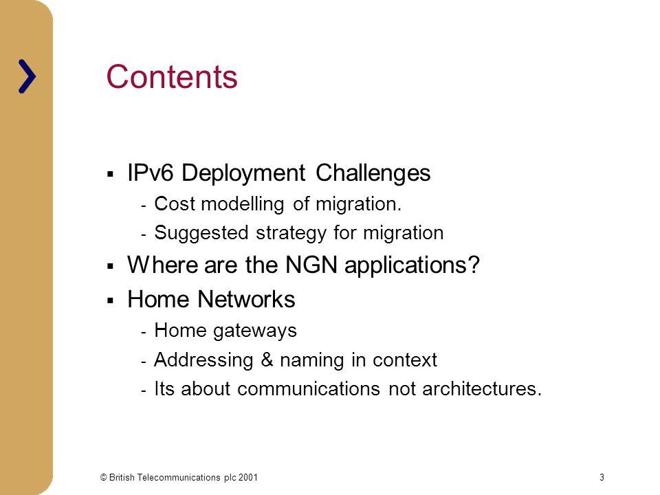 © British Telecommunications plc 200114 IPv6 Address Hierarchies,even more.