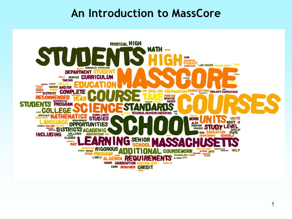 1 An Introduction to MassCore