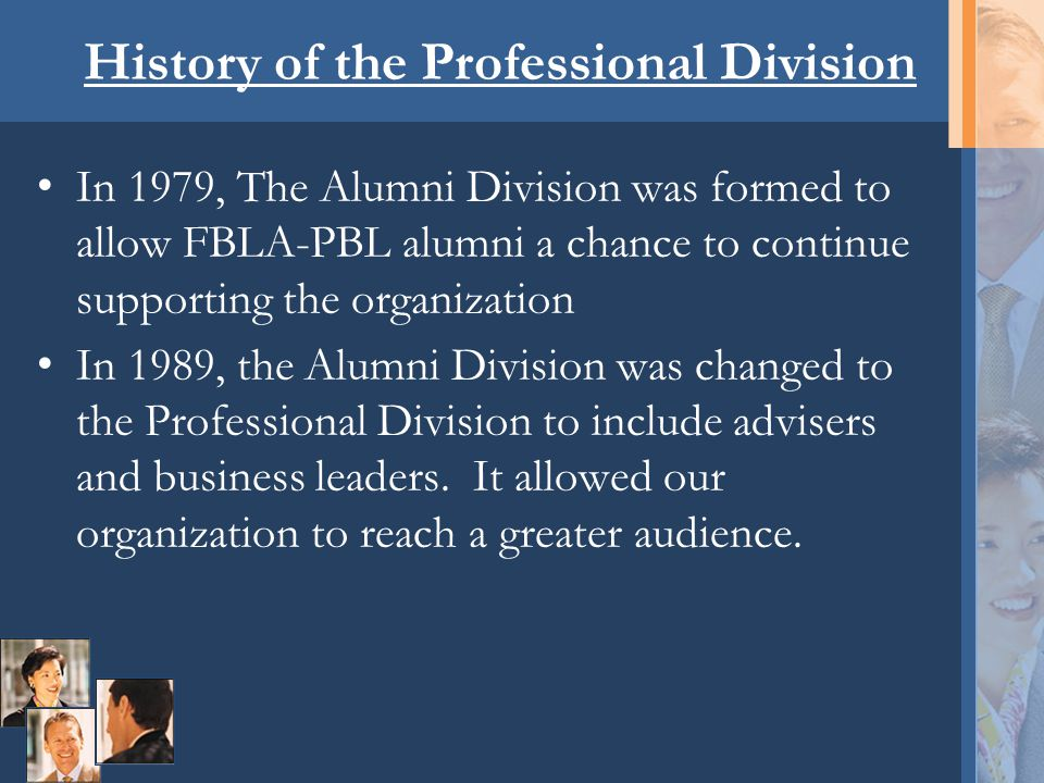 Who are Professional Division members.