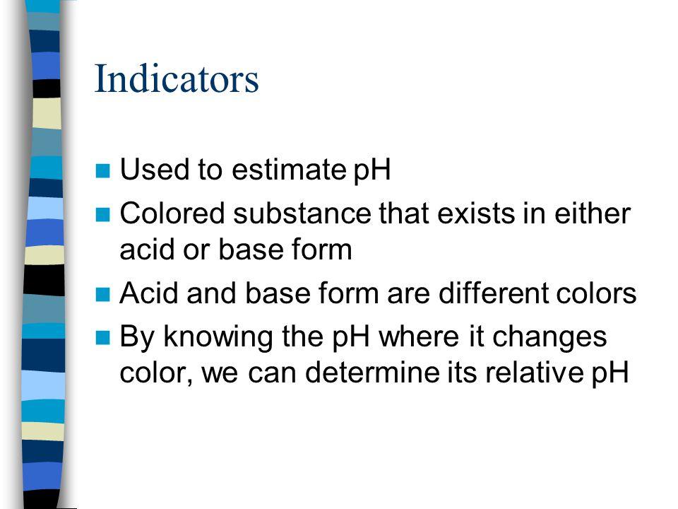 pOH pOH = -log [OH - ] pOH = 7, neutral pOH < 7, basic pOH > 7, acidic pH + pOH = 14.00