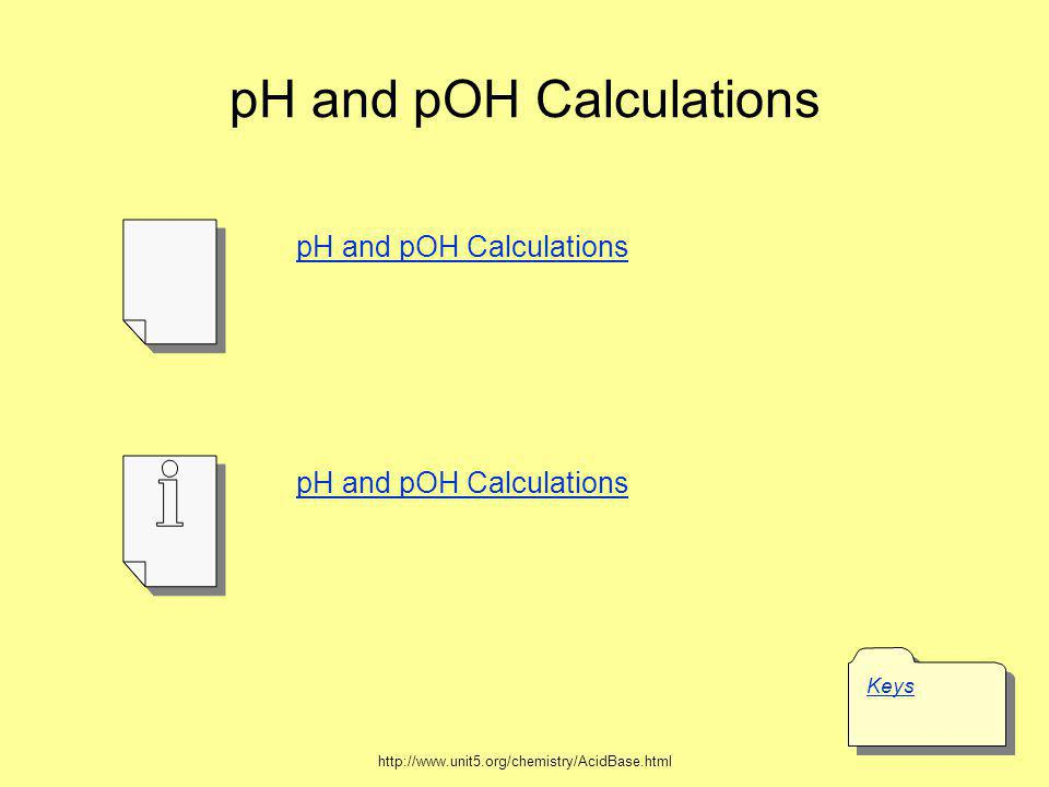 pH = - log [H + ] pH = 4.6 pH = - log [H + ] 4.6 = - log [H + ] - 4.6 = log [H + ] Given: 2 nd log 10 x antilog multiply both sides by -1 substitute pH value in equation take antilog of both sides determine the [hydronium ion] choose proper equation [H + ] = 2.51x10 -5 M You can check your answer by working backwards.