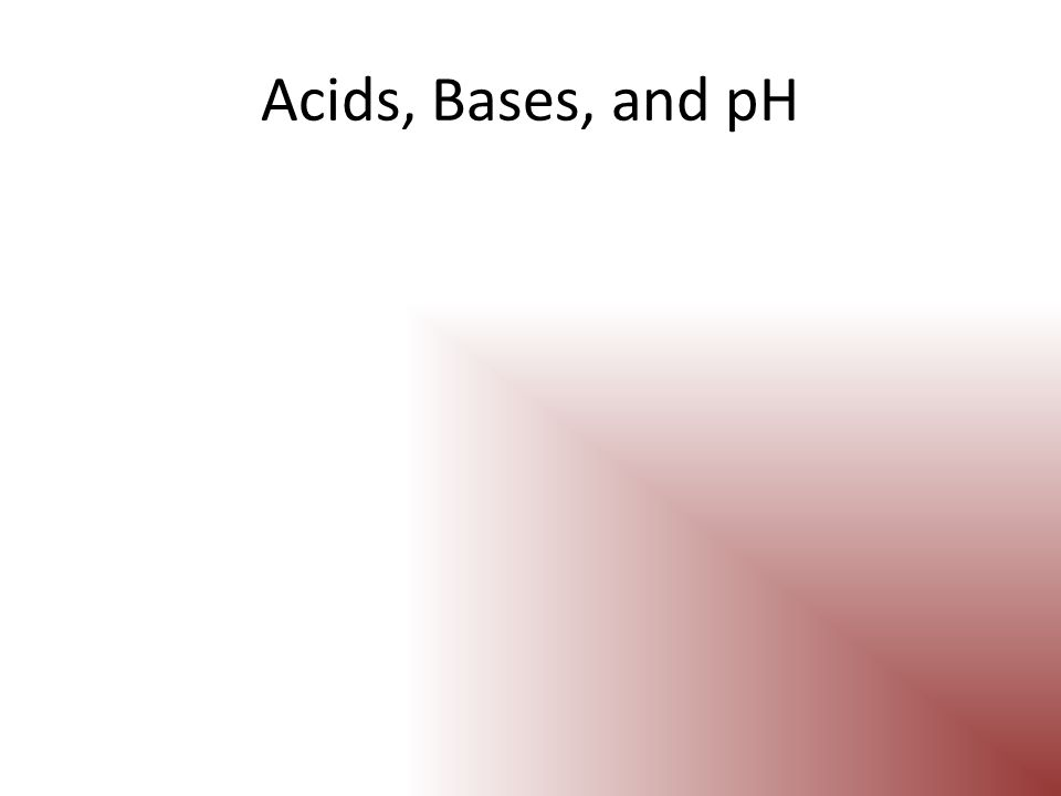 pH Scale The pH scale indicates the concentration of H + ions in a solution The pH scale ranges from 0 to 14 A pH of 7 is considered to be neutral Water has a pH of 7 pH values below 7 are considered to be acidic pH values above 7 are considered to be basic