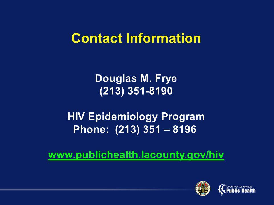 Contact Information Douglas M.