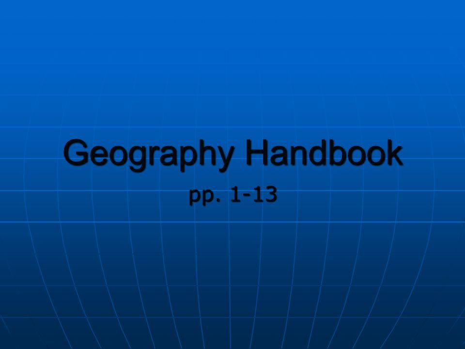 Geography Handbook pp. 1-13