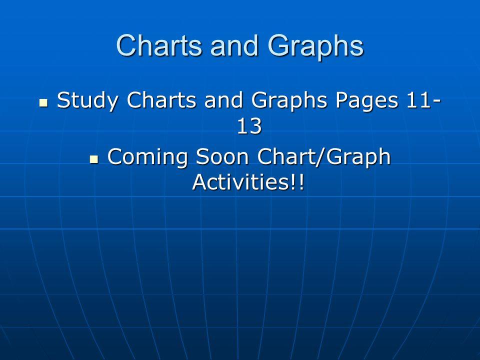 Charts and Graphs Study Charts and Graphs Pages 11- 13 Study Charts and Graphs Pages 11- 13 Coming Soon Chart/Graph Activities!! Coming Soon Chart/Gra