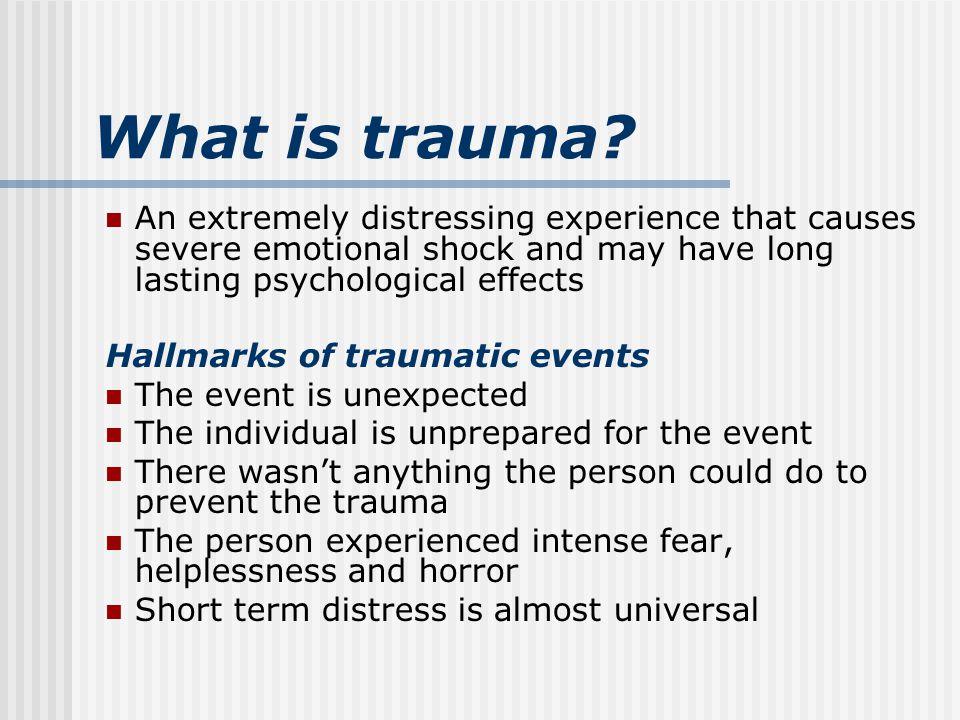 What is trauma.