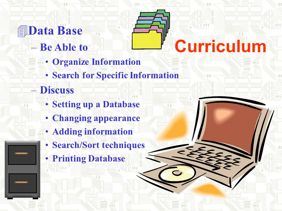 Curriculum 4Word Processing –Creating.... Reports Stories Letters, etc –Discuss....