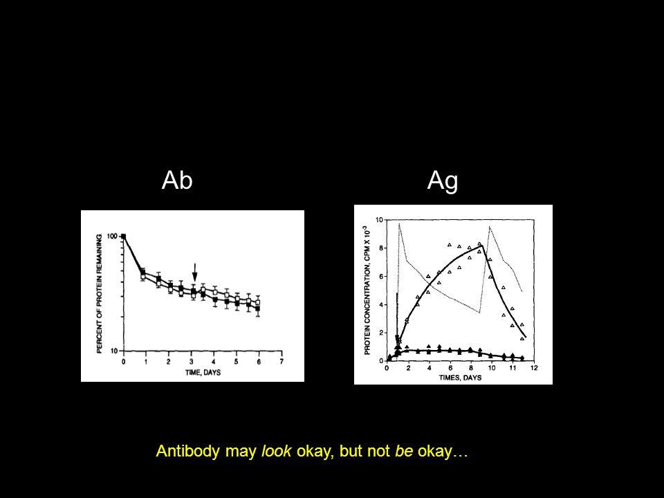 Antibody may look okay, but not be okay… AbAg