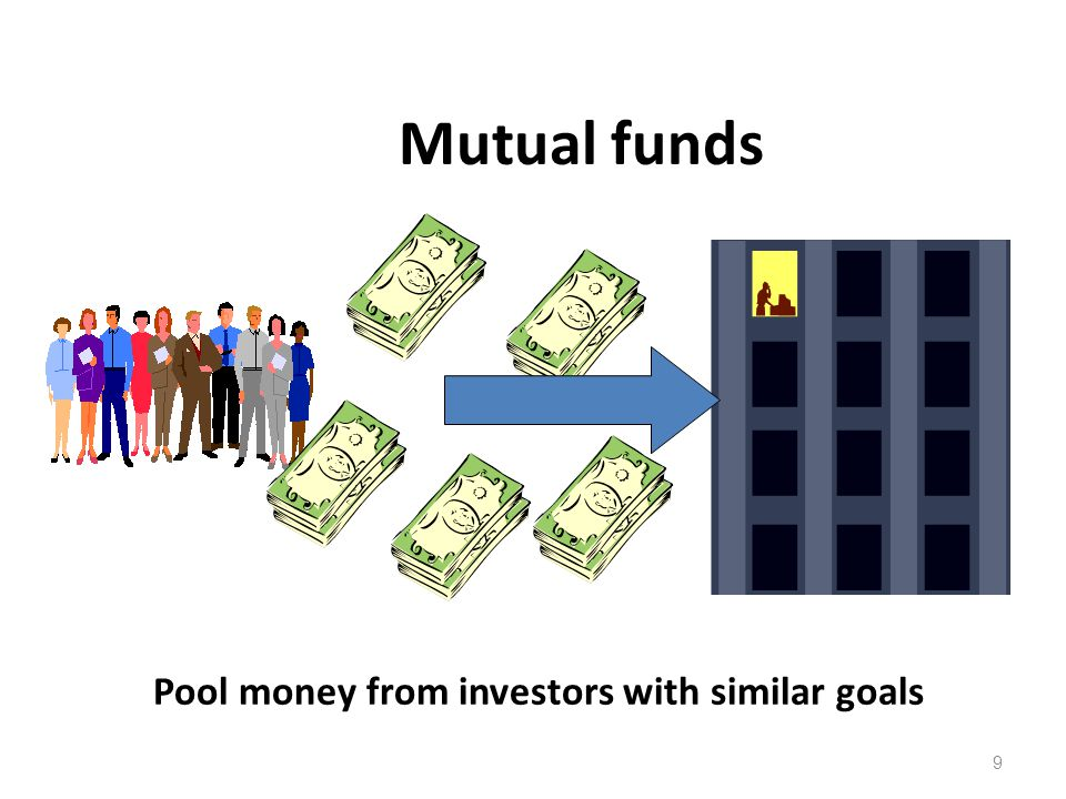 Mutual funds Pool money from investors with similar goals 9