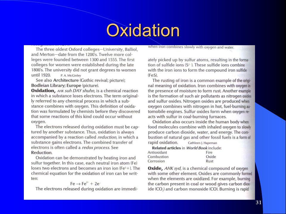 31 Oxidation