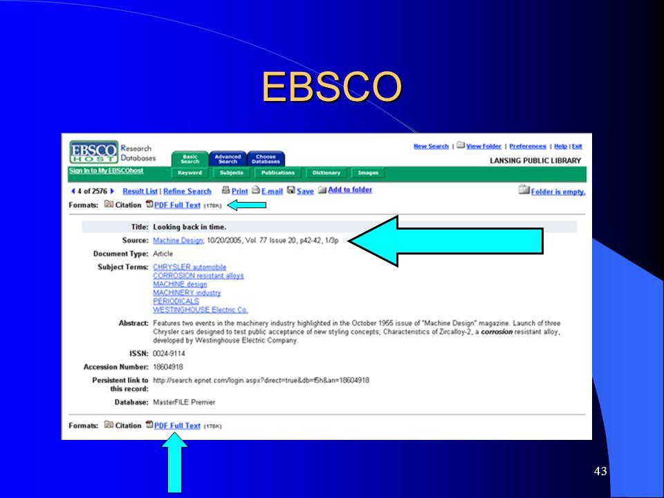 43 EBSCO
