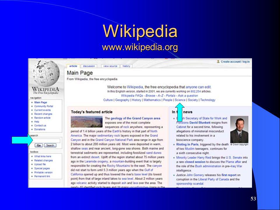 53 Wikipedia www.wikipedia.org