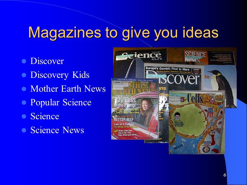 7 http://www.lansing.lib.il.us/scienceproject.html