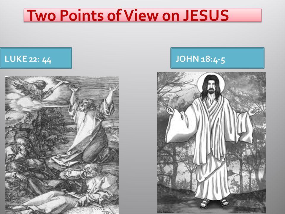LUKE 22: 44JOHN 18:4-5