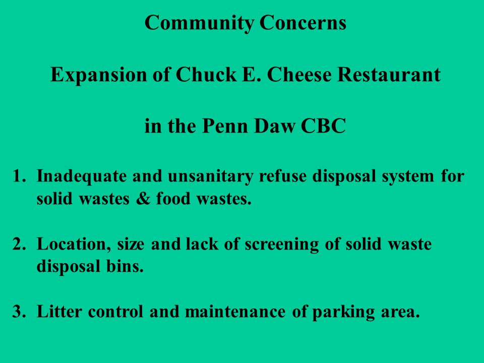 Community Concerns Expansion of Chuck E.