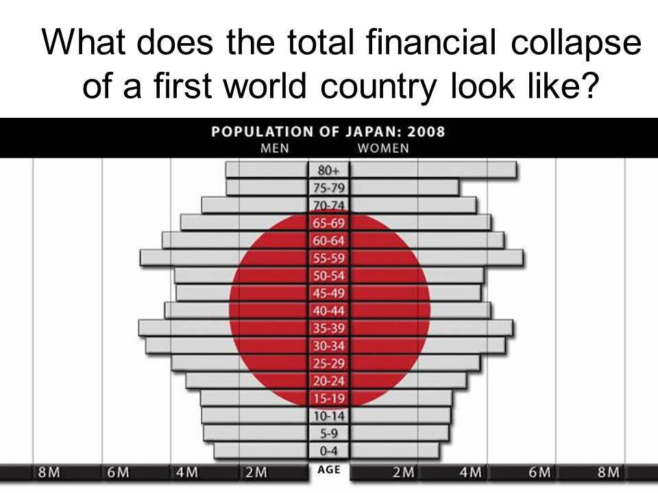 What does the total financial collapse of a first world country look like