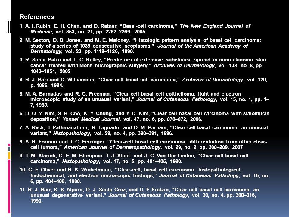 References 1.A. I. Rubin, E. H. Chen, and D.