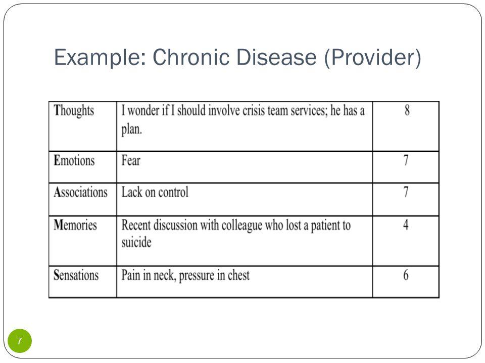 Example: Chronic Disease (Provider) 7