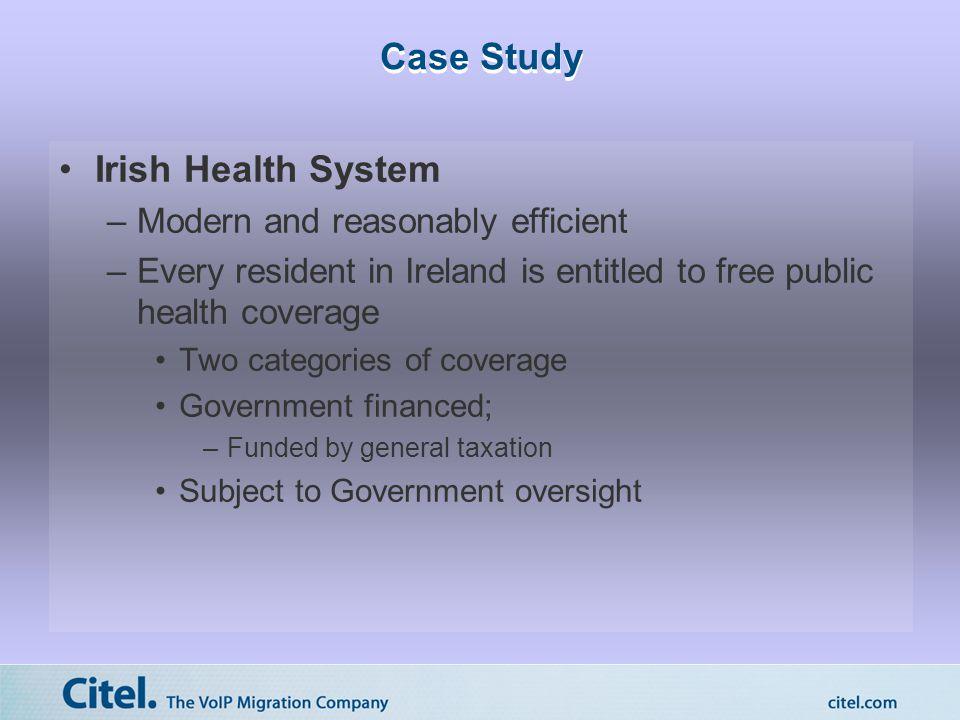 Case Study Irish Health System - contd.
