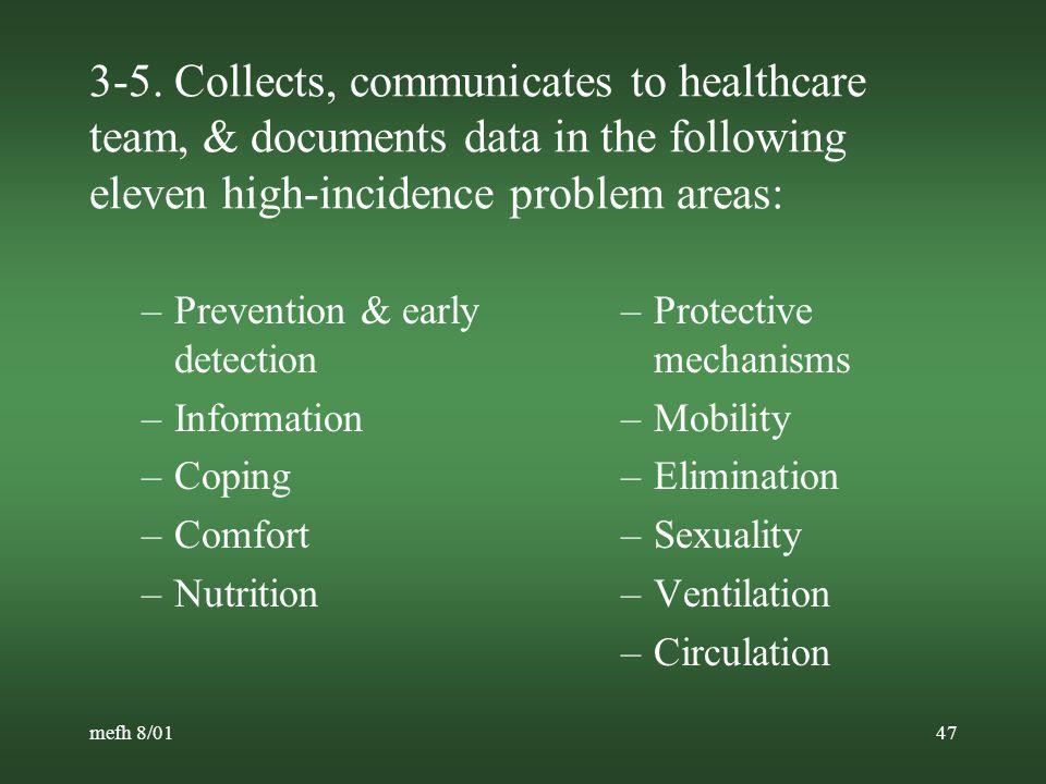mefh 8/0146 ONS Oncology Nursing Practice Standards (cont.) Measurement Criteria 1.