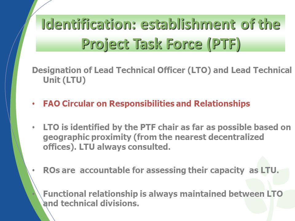 Identification Step - Concept Note The Project Concept Note is necessary for all type of projects: Ensures strategic fit between a project idea and higher level outcome (CPF/OR) Structures preliminary stakeholders and problem analysis in terms of relevance, feasibility and potential sustainability (preliminary analysis of the UN PPs) To be downloaded from FPMIS Identification: the Concept Note