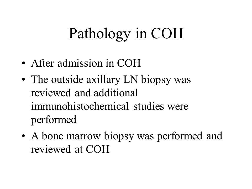 Right axillary LN biopsy in 10/2008