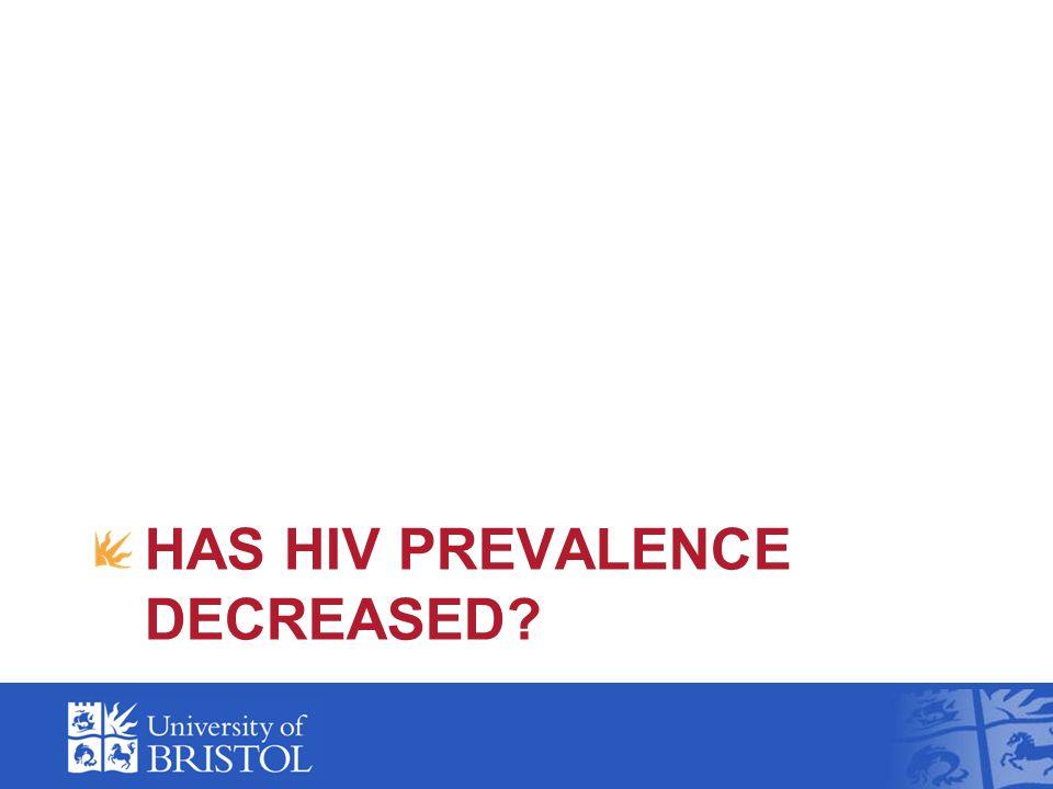 HAS HIV PREVALENCE DECREASED