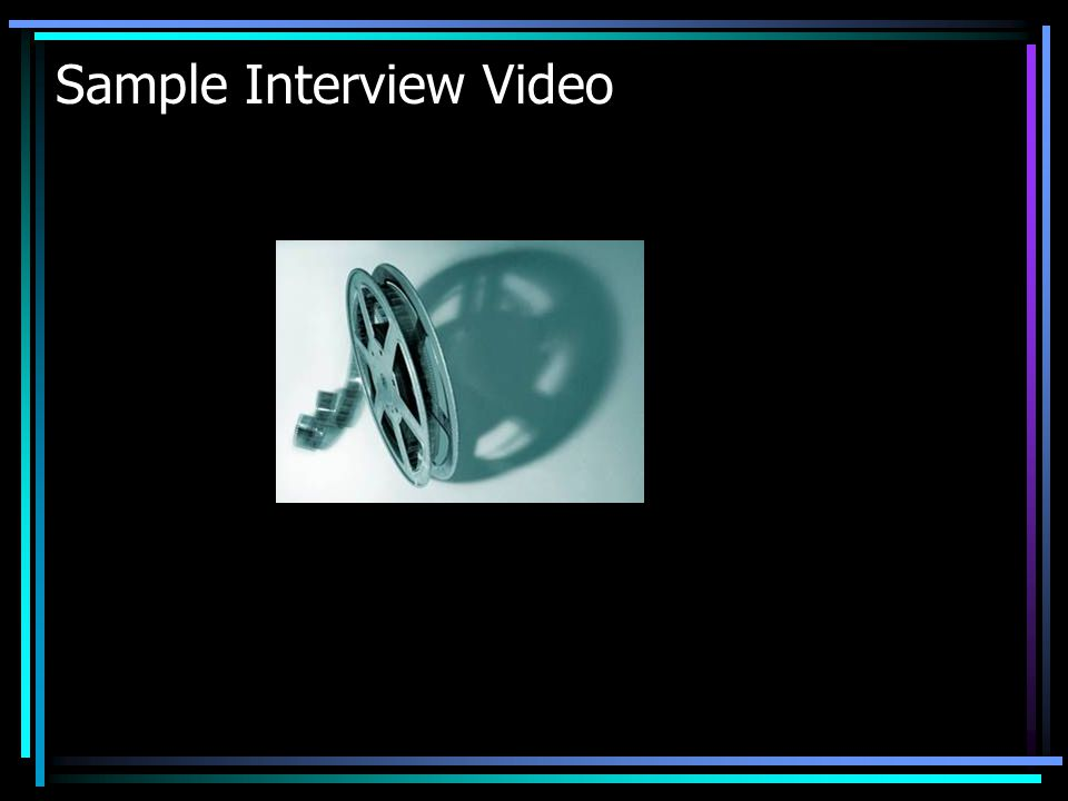 Sample Interview Video