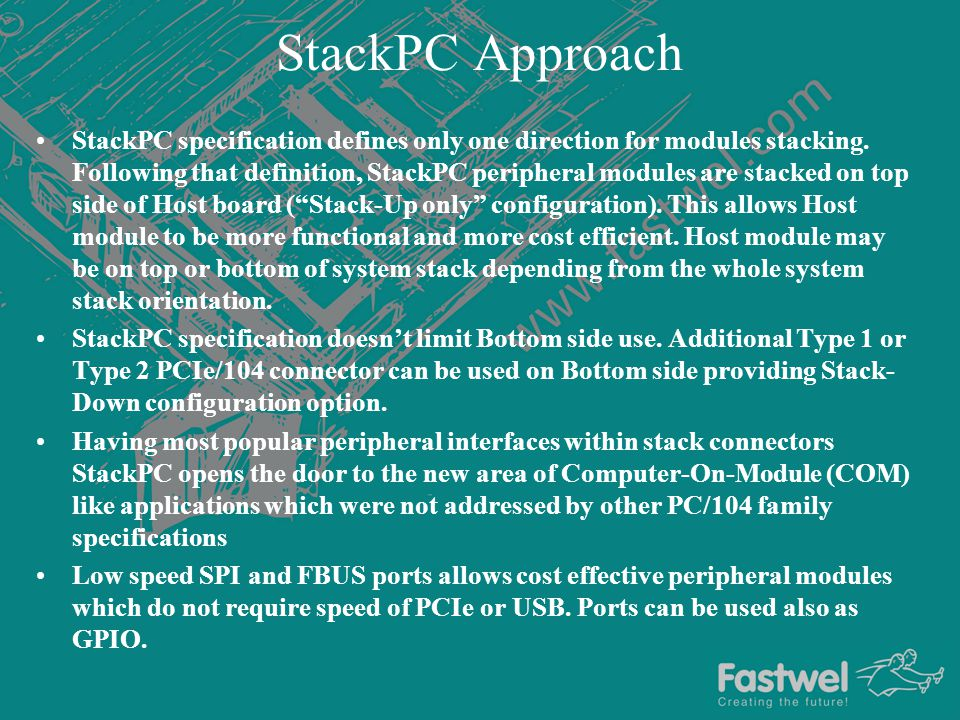 Stack Up only approach Stack-up is a System level approach.