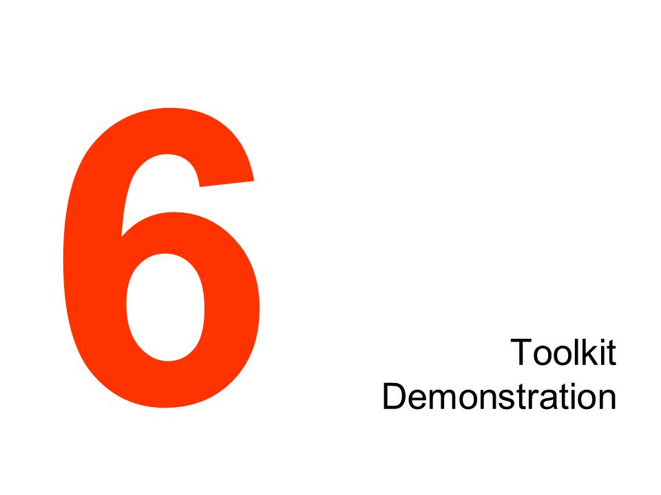 Toolkit Demonstration 6