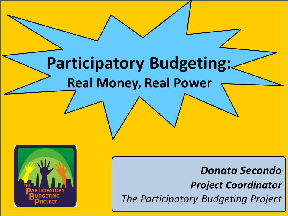 Why participation in budgeting.