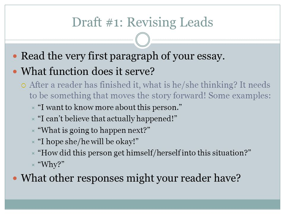 Draft #2 : Dialogue Revision How can you incorporate or improve the dialogue in your story.