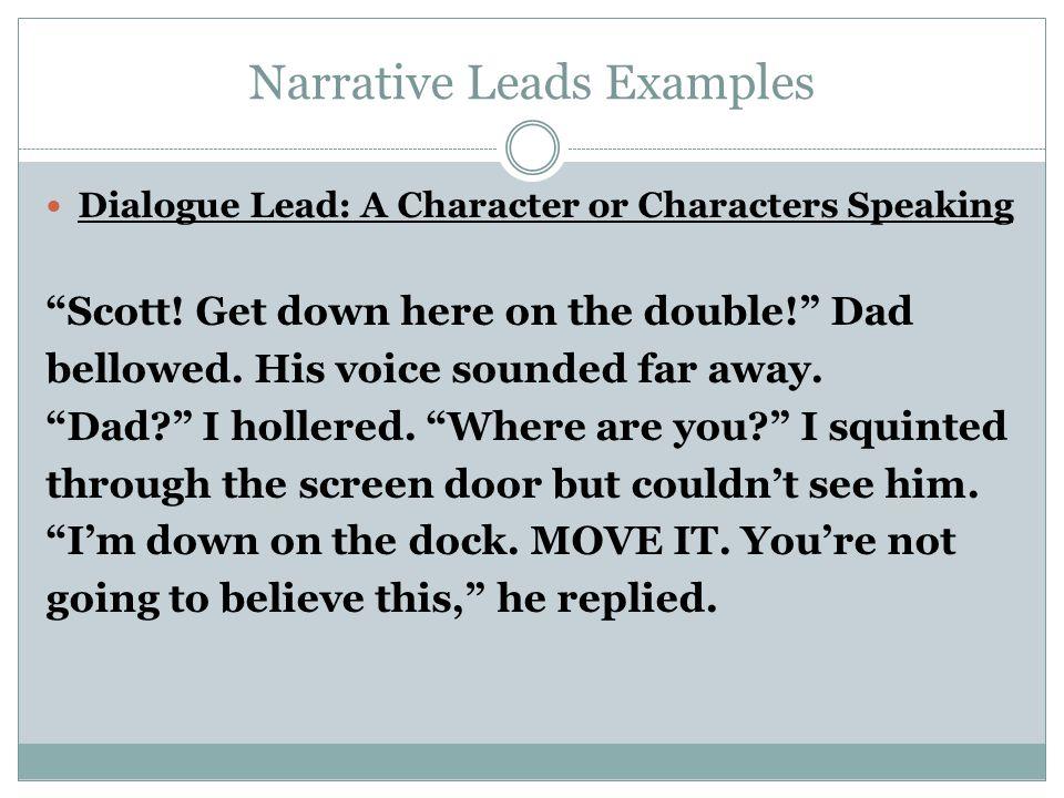 narrative essay leads
