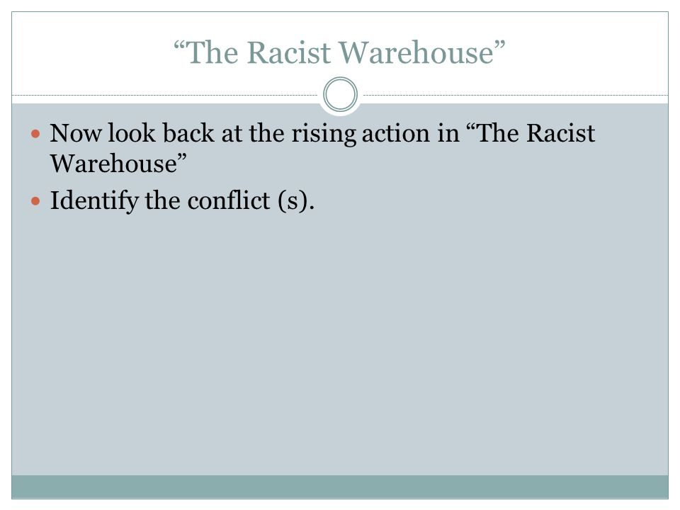 Draft #1:Rising Action: The series of conflicts and crisis in the story that lead to the climax.