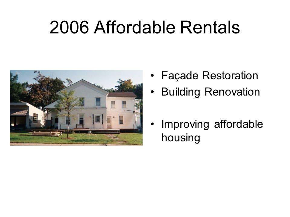 2006 Affordable Rentals Façade Restoration Building Renovation Improving affordable housing