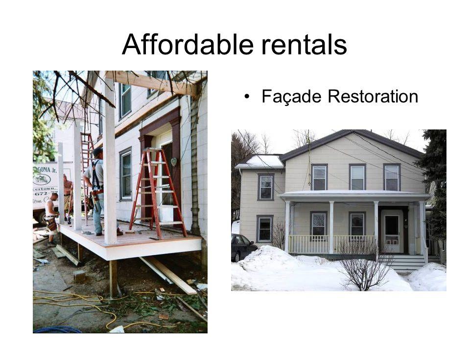 Affordable rentals Façade Restoration