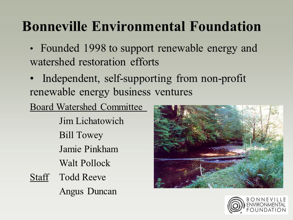 A Functional History of Watershed Restoration Pre-1990: regulatory and technical interventions; little community engagement Post-1990: community-based watershed councils w/ good intentions Today: community + science = watershed councils guided by biological assessments Next: accountability, adaptive management, monitoring, evaluation, feedback loops