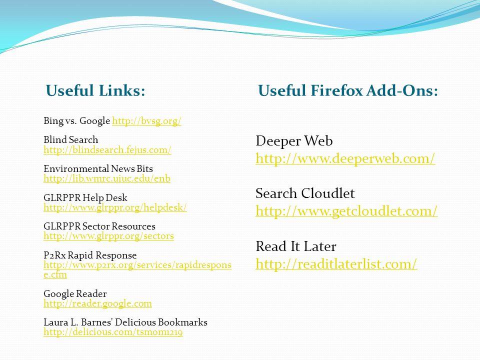 Useful Links: Useful Firefox Add-Ons: Bing vs.