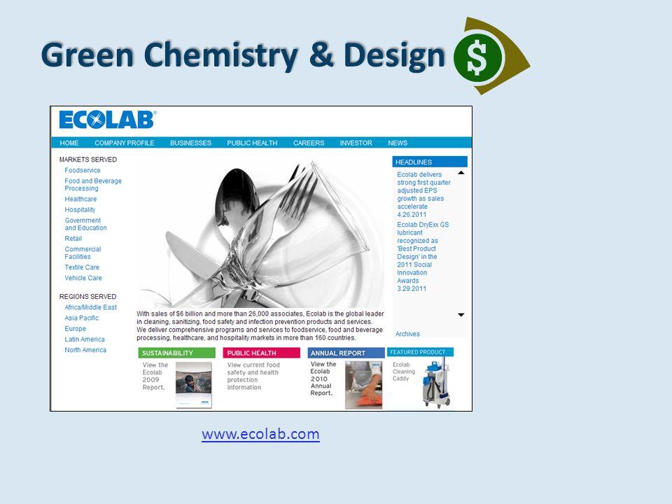 Green Chemistry & Design www.ecolab.com