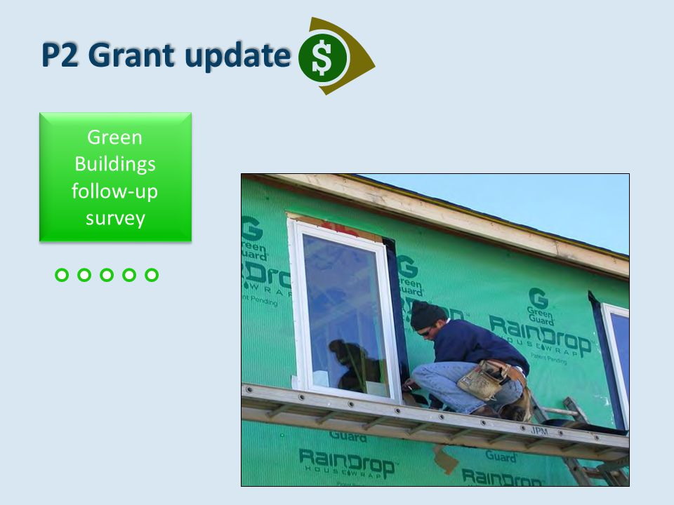 P2 Grant update Green Chemistry & Design Demonstration projects