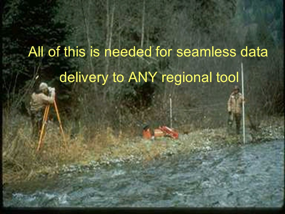 All of this is needed for seamless data delivery to ANY regional tool